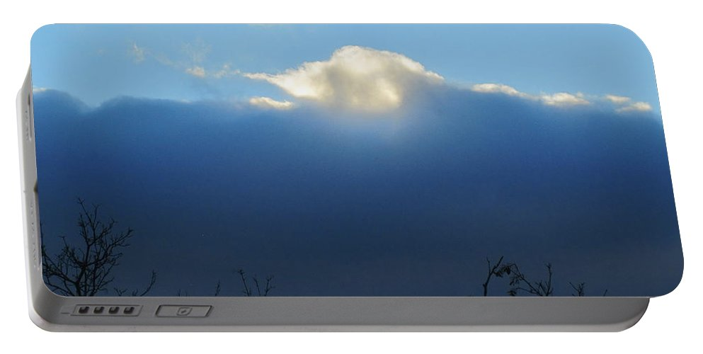 Sky Portable Battery Charger featuring the photograph Blue Wall Clouds 3 by Tara Shalton