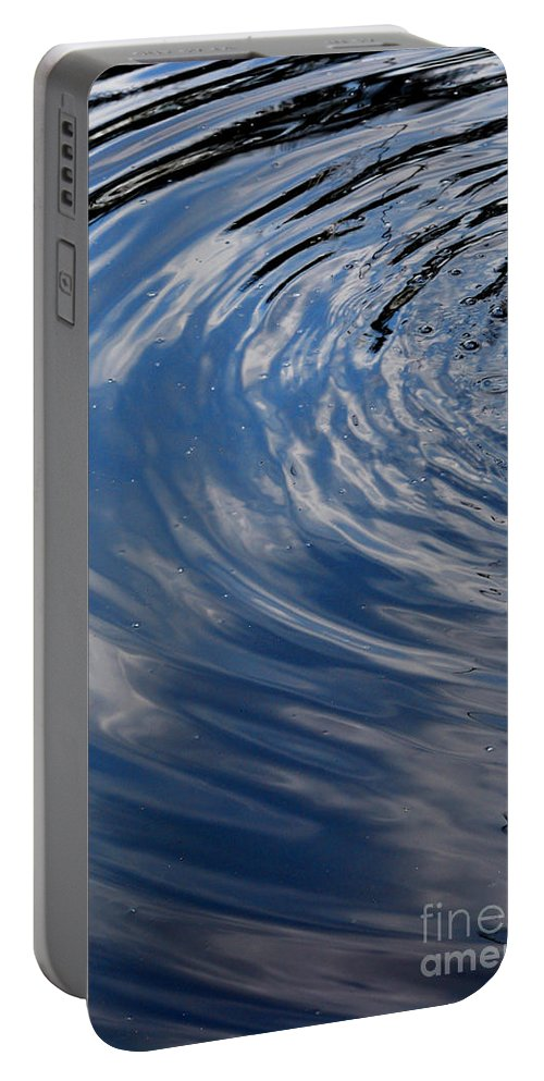 Water Portable Battery Charger featuring the photograph Blue Water Ripples by Nancy Mueller