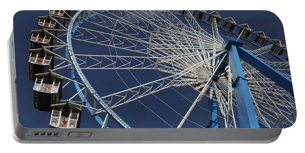 Portable Battery Charger featuring the photograph Blue Wheel In The Sky by Jennifer Ann Henry