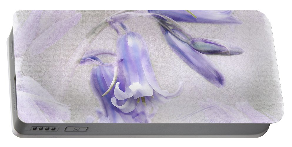 Blue Portable Battery Charger featuring the photograph Bluebells by Julie Woodhouse