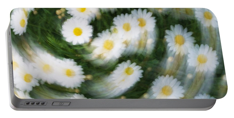 Daisy Portable Battery Charger featuring the photograph Blurred Daisies by Chevy Fleet