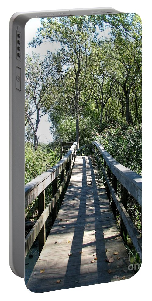 Boardwalk Portable Battery Charger featuring the photograph Boardwalk At Tifft Nature Preserve Buffalo New York by Rose Santuci-Sofranko
