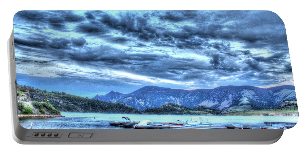 Boats Portable Battery Charger featuring the photograph Boat Dock At Holter Lake by John Lee