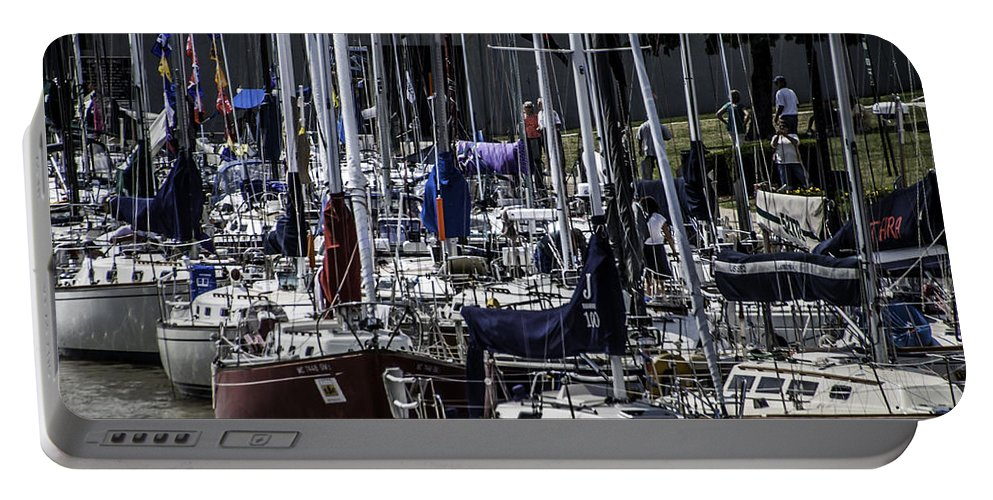 Sailboats Portable Battery Charger featuring the photograph Boat Week 2 by Ronald Grogan