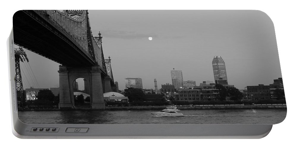 Queensboro Bridge Portable Battery Charger featuring the photograph Boating Under The Bridge by Catie Canetti