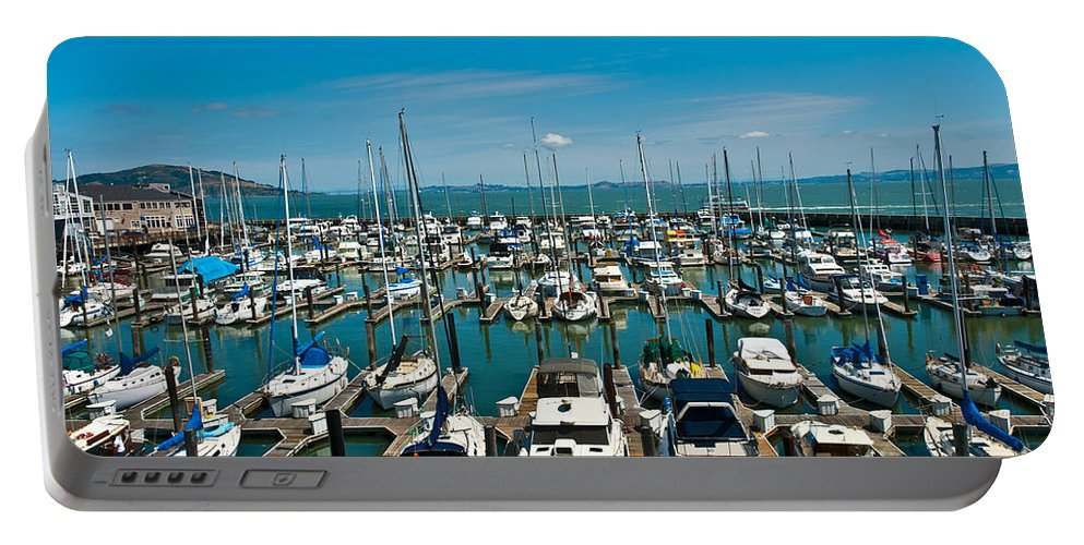 Boats Portable Battery Charger featuring the photograph Boats At Bay by Anthony Sacco
