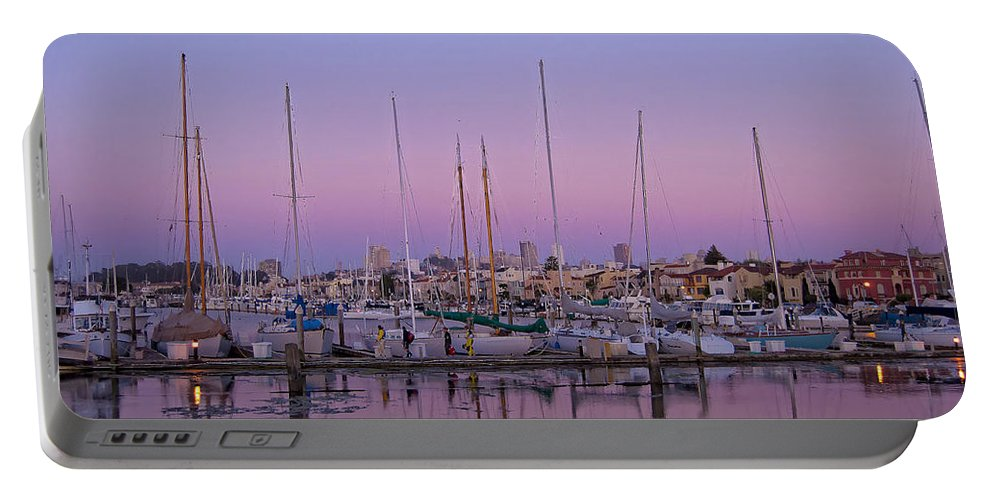 Boats Portable Battery Charger featuring the photograph Boats At Dusk 1 by Donna Doherty