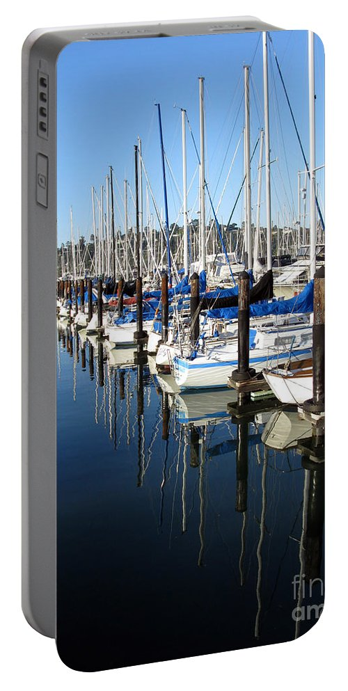 Boats Portable Battery Charger featuring the photograph Boats At Rest. Sausalito. California. by Ausra Huntington nee Paulauskaite