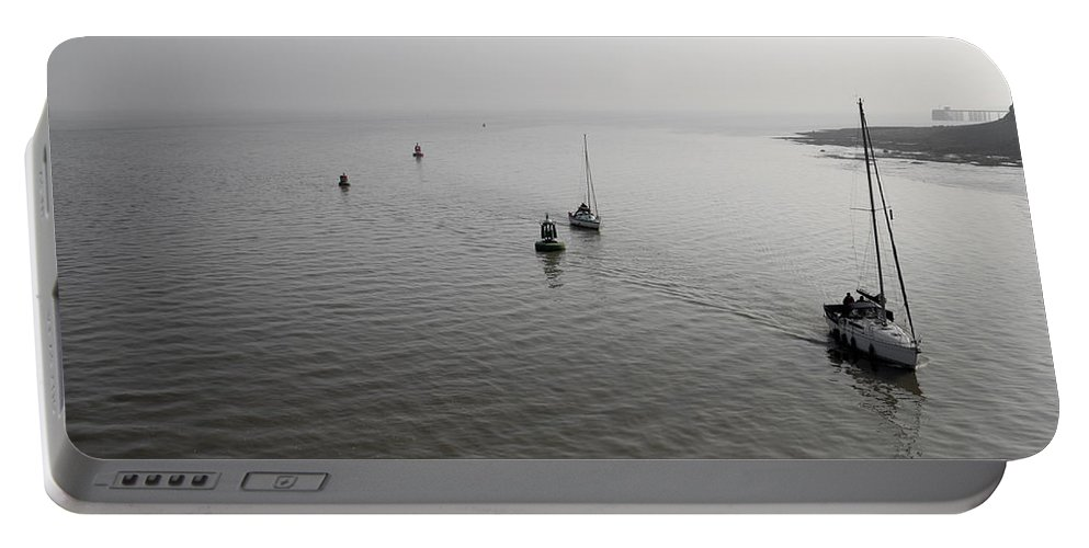 Sailing Portable Battery Charger featuring the photograph Boats Returning by Kevin Round