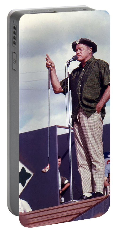 Bob Hope Portable Battery Charger featuring the photograph Bob Hope by Norman Johnson