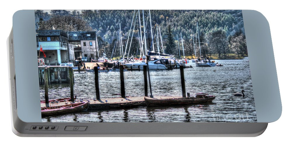 Boat House Portable Battery Charger featuring the photograph Yachts by Doc Braham