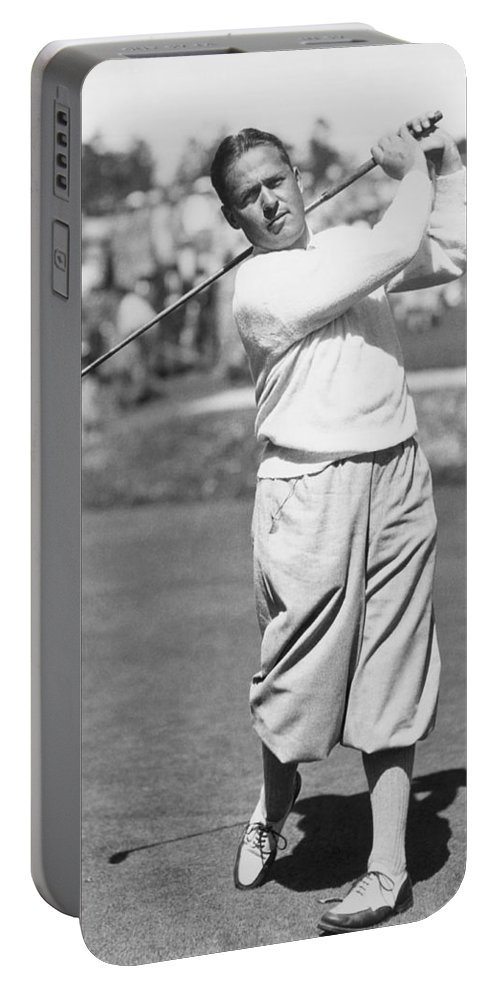 1 Person Only Portable Battery Charger featuring the photograph Bobby Jones At Pebble Beach by Underwood Archives