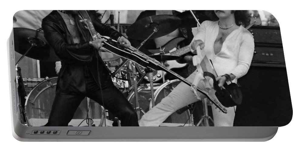 Blue Oyster Cult Portable Battery Charger featuring the photograph Boc #28 Crop 2 by Ben Upham