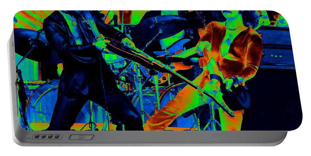 Blue Oyster Cult Portable Battery Charger featuring the photograph Boc #28 Crop 2 In Cosmicolors by Ben Upham