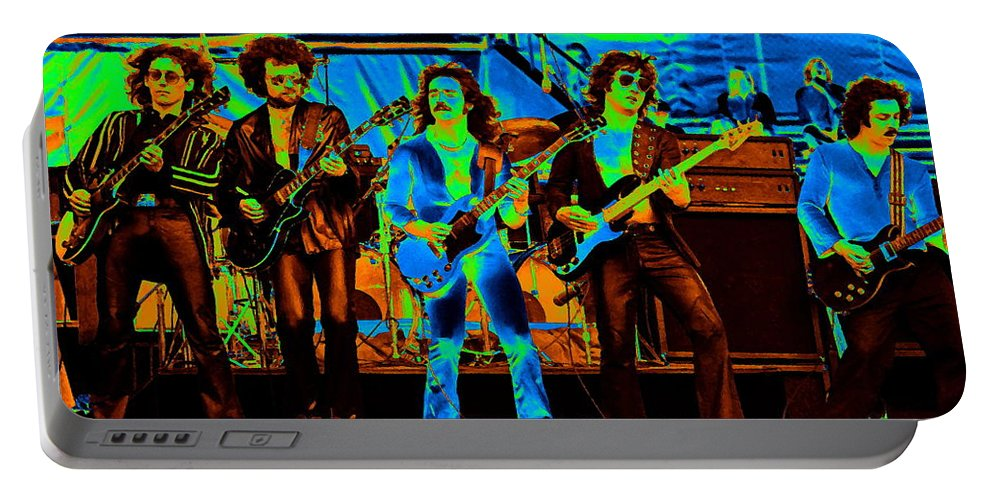 Blue Oyster Cult Portable Battery Charger featuring the photograph Boc #47 Enhanced In Cosmicolors 2 by Ben Upham