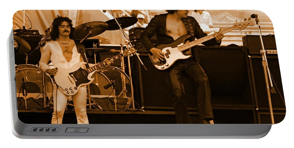 Blue Oyster Cult Portable Battery Charger featuring the photograph Boc #50 In Amber by Ben Upham