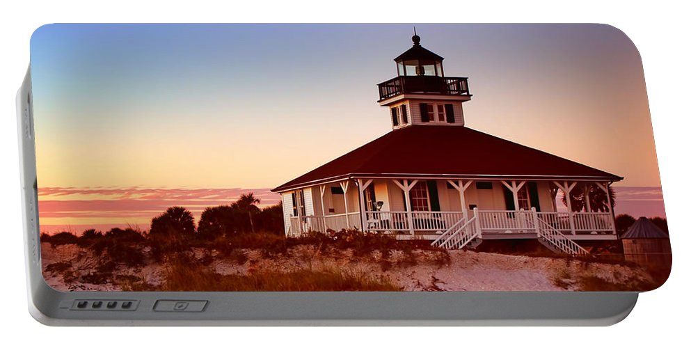 Boca Grande Portable Battery Charger featuring the photograph Boca Grande Lighthouse - Florida by Nikolyn McDonald