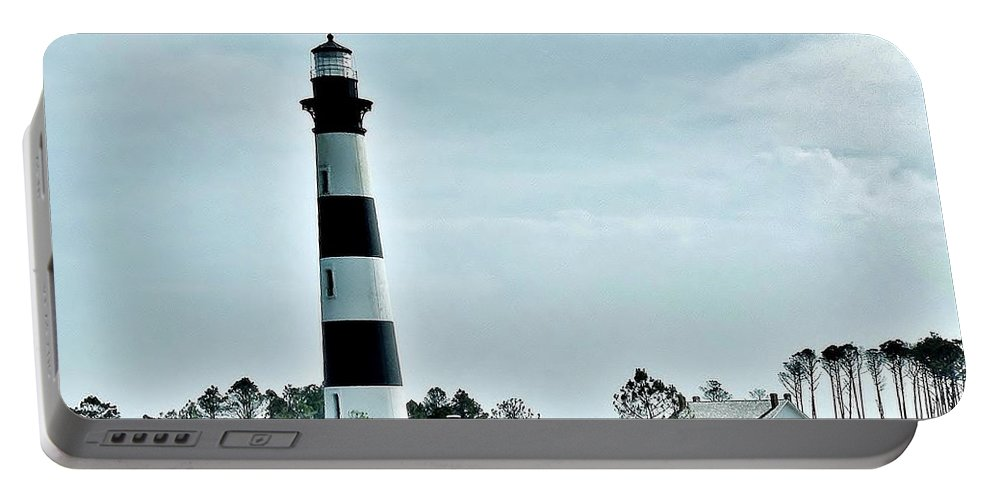 Lighthouse Portable Battery Charger featuring the photograph Bodie Island Lighthouse - Outer Banks North Carolina by Kim Bemis