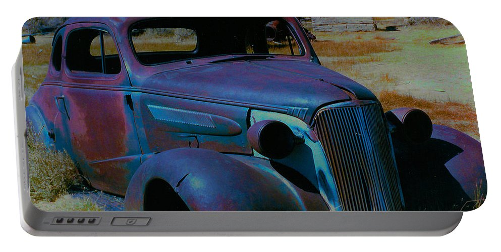 Barbara Snyder Portable Battery Charger featuring the digital art Bodie Plymouth by Barbara Snyder