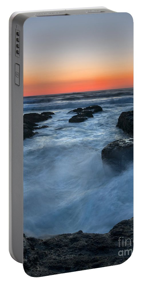 Yachats Portable Battery Charger featuring the photograph Boiling Point by Mike Dawson