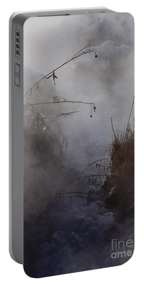 Boiling River Portable Battery Charger featuring the photograph Boiling River Ynp  by J L Woody Wooden