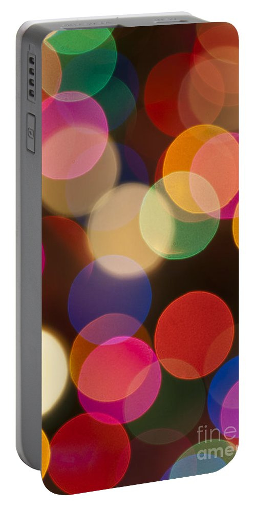 Fairy Lights Portable Battery Charger featuring the photograph Bokeh by Steve Purnell
