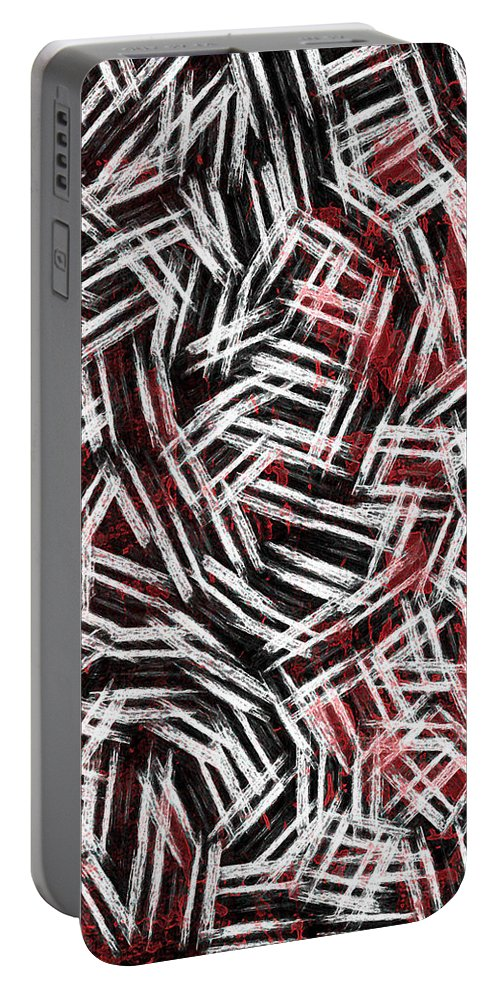Bold Portable Battery Charger featuring the digital art Bold Statement by Rhonda Barrett