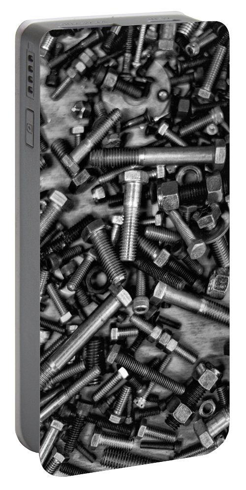 Nuts And Bolts Portable Battery Charger featuring the photograph Bolts by Robert Hayton