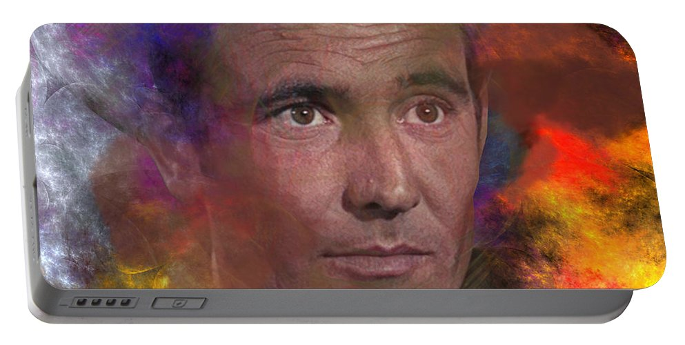 Bond Portable Battery Charger featuring the digital art Bond - James Bond 2 - Square Version by John Beck