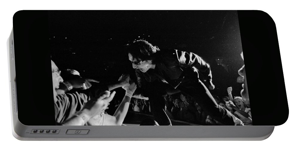 Bono Portable Battery Charger featuring the photograph Bono 051 by Timothy Bischoff