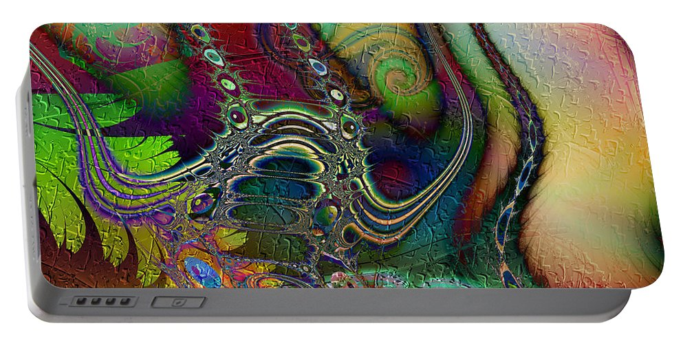 Boogaloo Portable Battery Charger featuring the digital art Boogaloo by Kiki Art