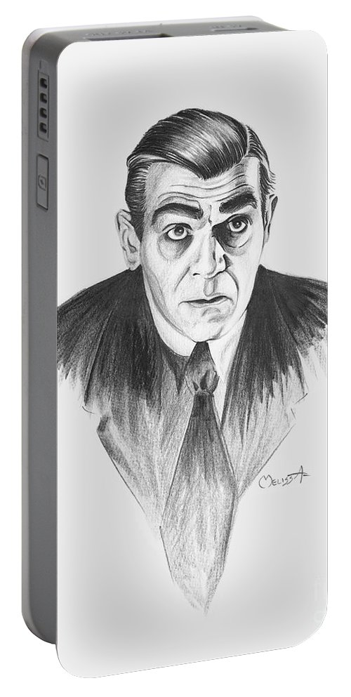 Boris Karloff Portable Battery Charger featuring the painting Boris Karloff by Melissa A Benson
