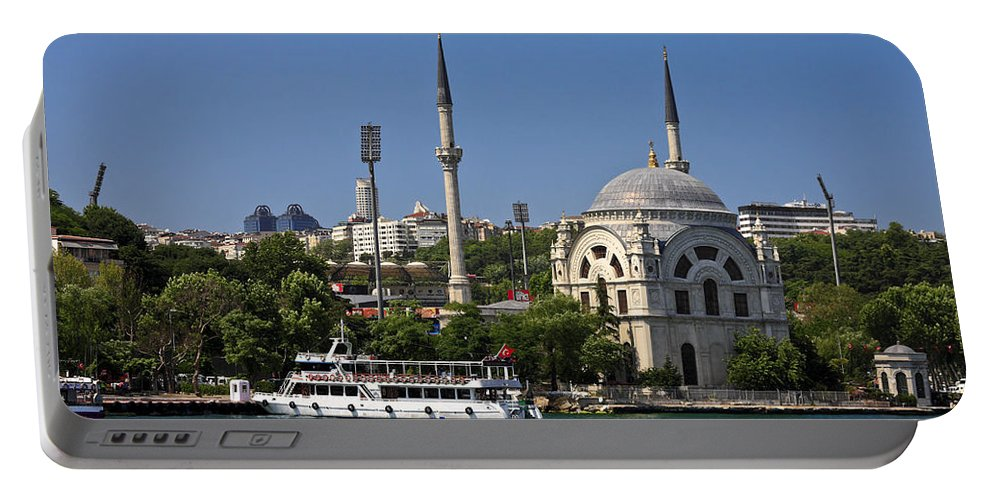 Waterside Scene Portable Battery Charger featuring the photograph Bosphorus Mosque by Sally Weigand