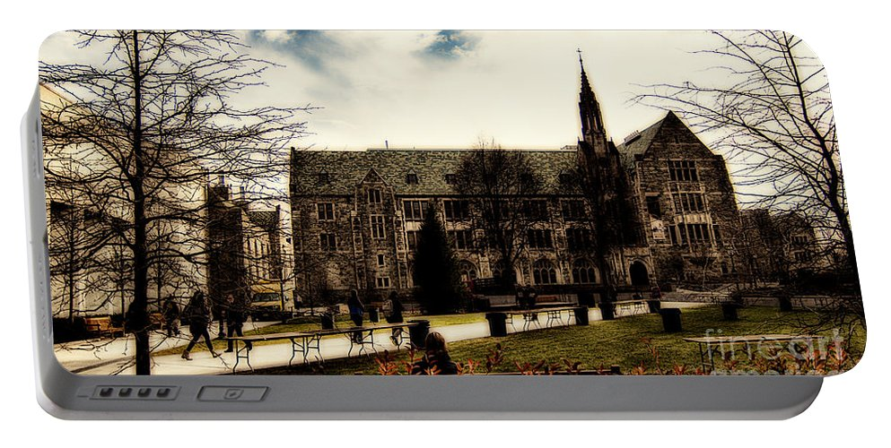 C Portable Battery Charger featuring the photograph Boston College by Douglas Barnard