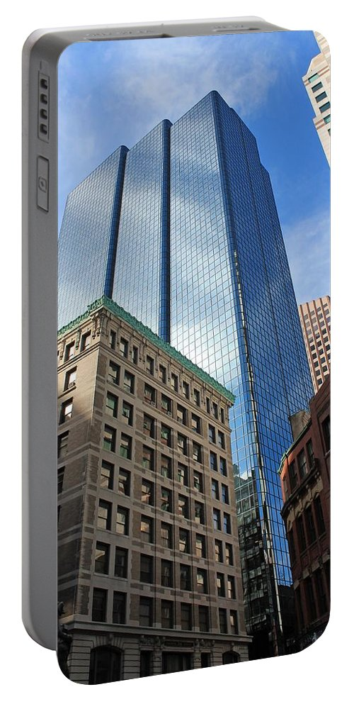 Architecture Portable Battery Charger featuring the photograph Boston Ma Architecture by Michael Saunders