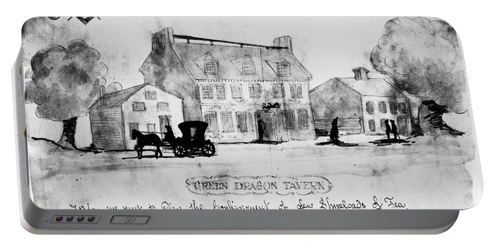 1773 Portable Battery Charger featuring the photograph Boston: Tavern, 1773 by Granger
