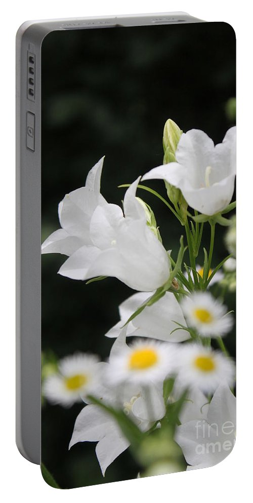 Portable Battery Charger featuring the photograph Botanical Beauty In White by Jennifer E Doll