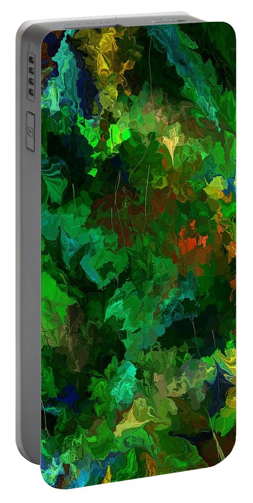 Fine Art Portable Battery Charger featuring the digital art Botanical Fantasy 110413 by David Lane