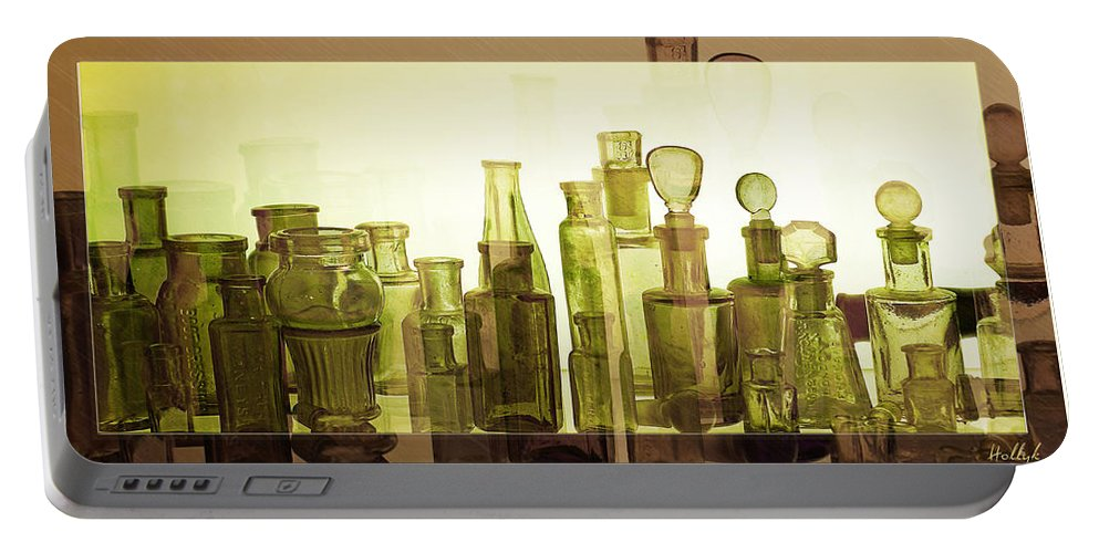 Bottles Portable Battery Charger featuring the photograph Bottled Light by Holly Kempe