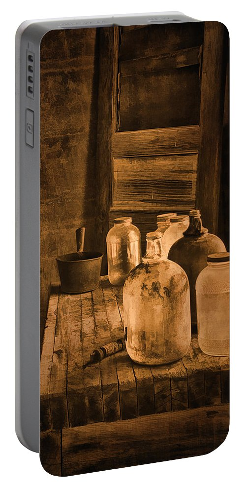 Bottles Portable Battery Charger featuring the photograph Bottled Up by Priscilla Burgers