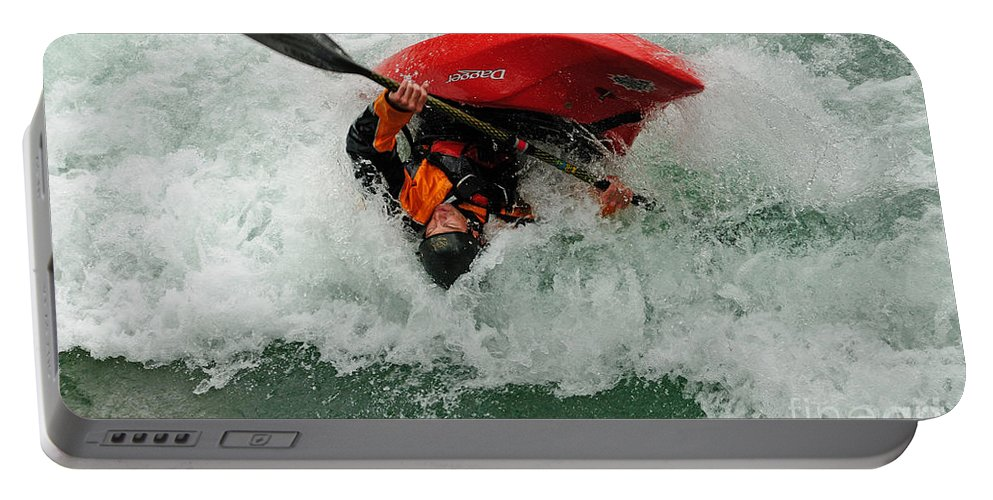 Kayaking Portable Battery Charger featuring the photograph Bottoms Up by Vivian Christopher