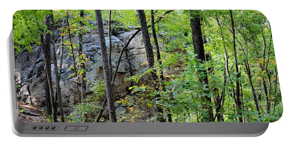 Boulder Field Portable Battery Charger featuring the photograph Boulder Field by Maria Urso