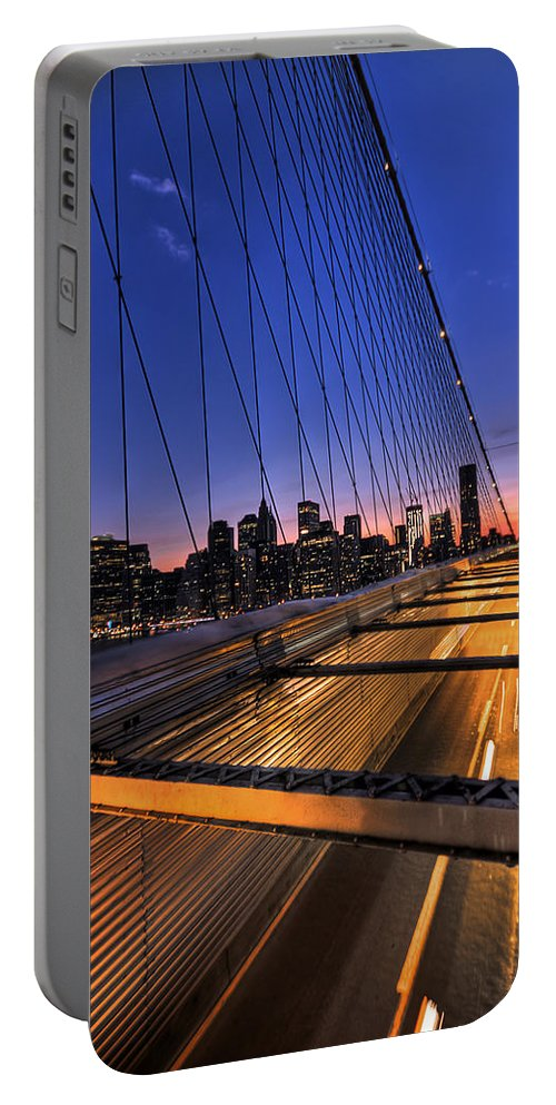 Brooklyn Portable Battery Charger featuring the photograph Bound For Greatness by Evelina Kremsdorf