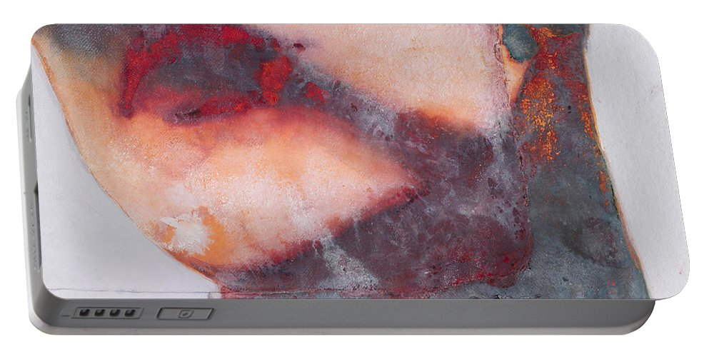 Lip Portable Battery Charger featuring the painting Bound by Graham Dean