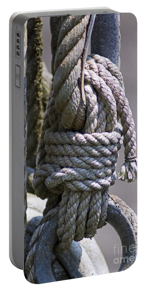 Rope Portable Battery Charger featuring the photograph Bound by Joe Geraci