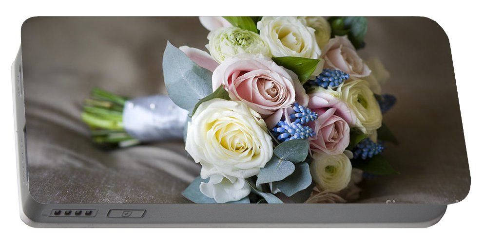 Bouquet Portable Battery Charger featuring the photograph Bouquet Of Spring Flowers by Lee Avison