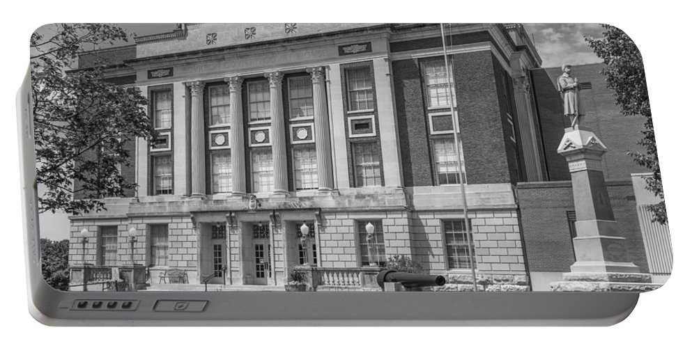 Court Portable Battery Charger featuring the photograph Bourbon County Courthouse 3 by Ken Kobe