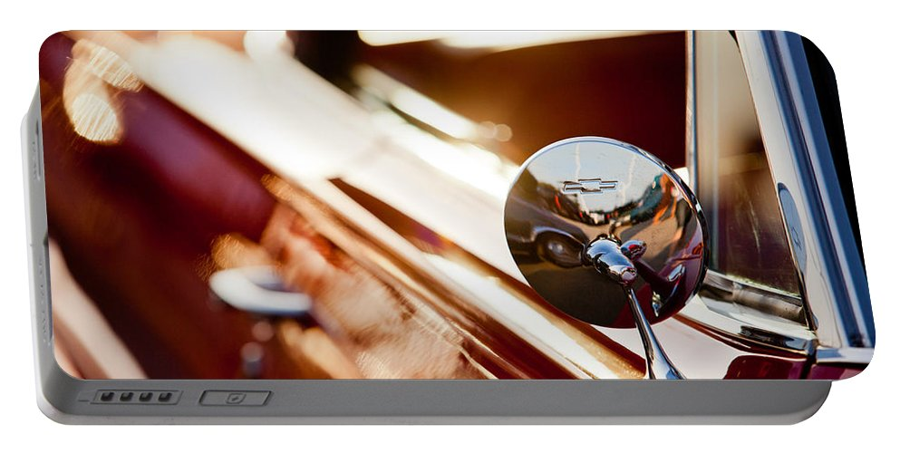 Chevy Portable Battery Charger featuring the photograph Bow Tie Mirror by Melinda Ledsome