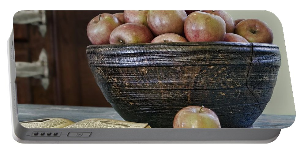 Apple Portable Battery Charger featuring the photograph Bowl Of Apples by Nikolyn McDonald