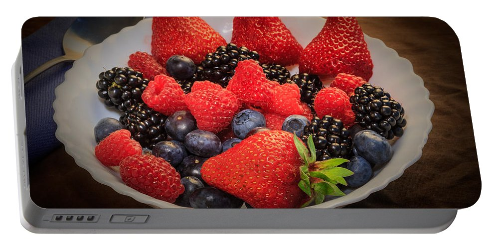 Bowl Of Fruit Portable Battery Charger featuring the photograph Bowl Of Fruit 1 by Mike Penney